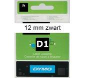 LETTERTAPE DYMO 45013 1000 12MMX7M WIT/ZWART